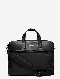 LAPTOP BAG W/PCKT - laukut - ck black