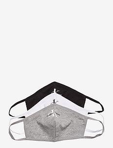 FACE COVER 3-PACK - ansiktsmasker - black/bright white/grey