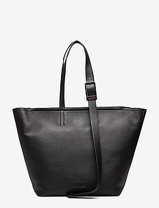 STRAPPED SHOPPER - BLACK