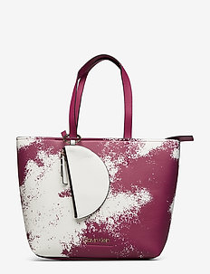 CK MUST MEDIUM SHOPPER SPRAY - fashion shoppers - magenta