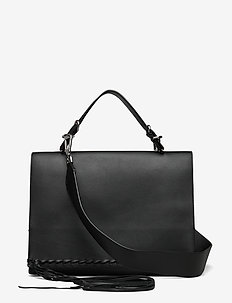 FRINGE SATCHEL - BLACK