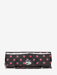 SCULPTED WESTERN LON - clutches - black w/ red stars