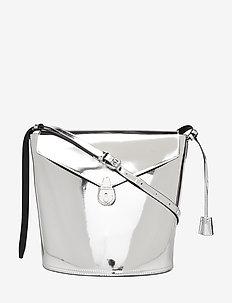 LOCK BUCKET S - bucket bags - silver