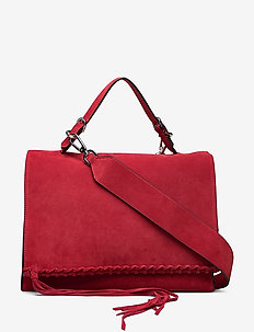 FRINGE SATCHEL SU - handtassen - barn red