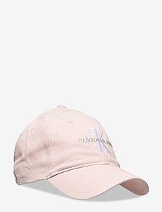 J MONOGRAM CAP WITH EMBROIDERY - crystal pink