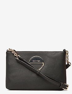 HOOP EW CROSSBODY - shoulder bags - black