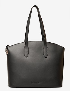 LOCK DOMED SHOPPER - fashion shoppers - black