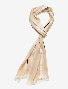 STRIPE SCARF 42X200 - LIGHT SAND