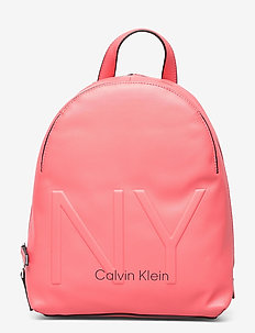 NY SHAPED BACKPACK S - ryggsekker - coral