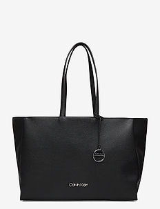 SIDED SHOPPER W/ LAP - fashion shoppers - black