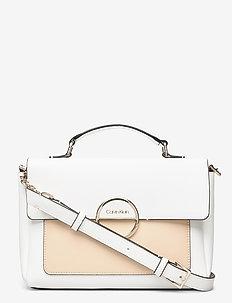 HOOP TOP HANDLE MD - handbags - white mix