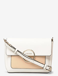 HOOP SHOULDER BAG SM - torby na ramię - white mix