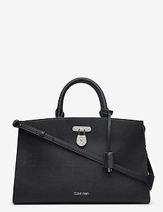 DRESSED BUSINESS TOTE LG - handbags - black