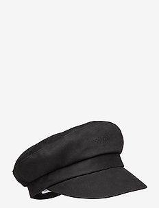 EMBROIDERY LOGO BAKER HAT - hatte - black