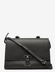 DRESSED BUSINESS TOP HANDLE MD - handbags - black