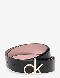 CK LOW REV GIFTPACK - riemen - black/silver pink