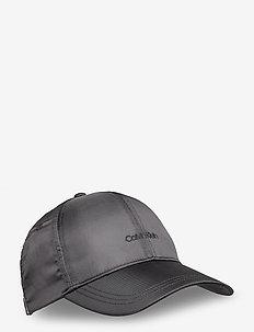 EMBROIDERY LOGO SATIN BB CAP - petten - black
