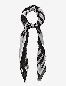 OPTICAL SCARF 100X200 - sjaals - black/grey mix