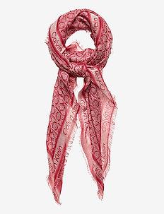 CK MONO J SCARF 130x130 - scarves - silver pink mix