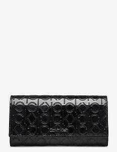 CK MUST EM TRIFOLD L - wallets - black