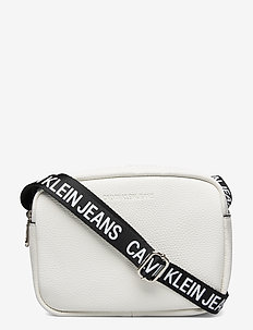 DOUBLE ZIP CAMERA BAG LW - skuldervesker - bright white