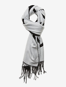 SCARF 65X195 - scarves - white