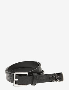SQUARE BUCKLE BELT 25MM LOGO TIP - riemen - black