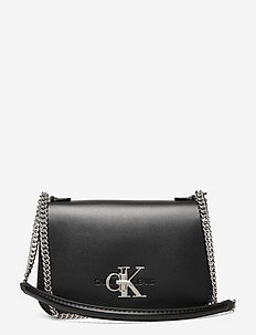 CONVERTIBLE FULL FLAP - crossbody bags - black