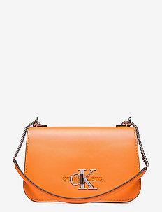 CONVERTIBLE FULL FLAP - crossbody bags - vivid orange