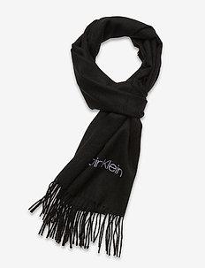 WOVEN SCARF 35X180CM - sjaals - black