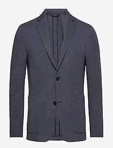 UNCONSTRUCTED JERSEY - blazers à boutonnage simple - poseidon