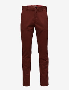 STRAIGHT FIT REFINED - chinos - iron red