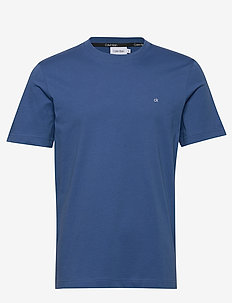 COTTON LOGO EMBROIDE - short-sleeved t-shirts - delta blue
