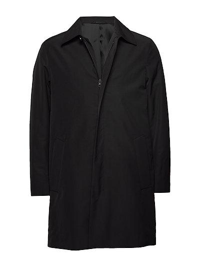 Wadded Nylon Zip Coat Dünner Mantel Schwarz CALVIN KLEIN