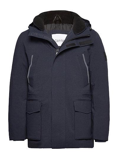 Premium Canvas Technical Jacket Dünne Jacke Blau CALVIN KLEIN | CALVIN KLEIN SALE