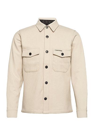 Wool Shirt Jacket Overshirts Creme CALVIN KLEIN | CALVIN KLEIN SALE