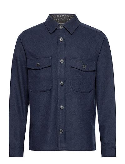 Wool Shirt Jacket Overshirts Blau CALVIN KLEIN | CALVIN KLEIN SALE