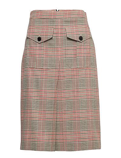 Heritage Chk A-Line Skirt Knielanges Kleid Pink CALVIN KLEIN