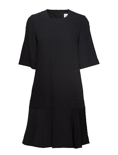 Smooth Twill Wide Slv Dress Ss Kurzes Kleid Schwarz CALVIN KLEIN   CALVIN KLEIN SALE