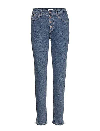 High Rise Slim Pant Slim Jeans Blau CALVIN KLEIN