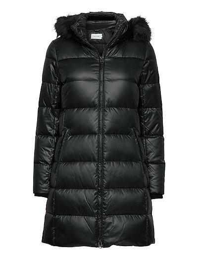 Essential Real Down Coat Gefütterter Mantel Schwarz CALVIN KLEIN