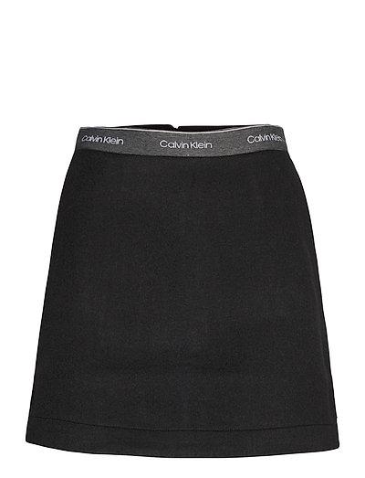 Double Face Skirt Kurzes Kleid Schwarz CALVIN KLEIN | CALVIN KLEIN SALE