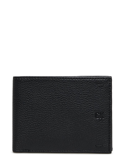 PEBBLED LEATHER BILL - BLACK
