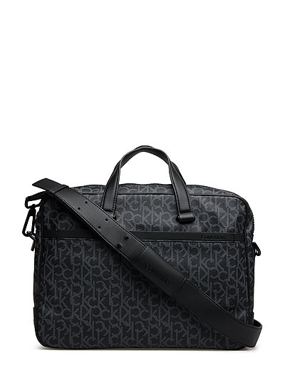 CK MONO LAPTOP BAG E - BLACK MONOGRAM