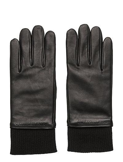J Cuff Leather Glove Handschuhe Schwarz CALVIN KLEIN