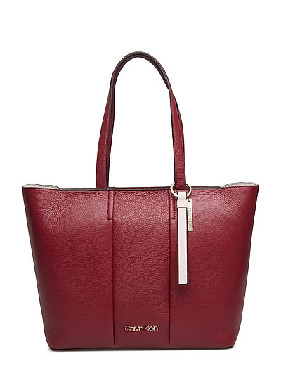 CITY LEATHER SHOPPER - RED ROCK