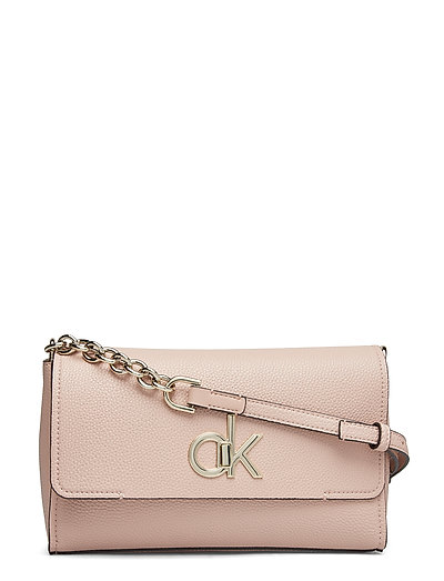 Re-Lock Flap Xbody Bags Small Shoulder Bags - Crossbody Bags Pink CALVIN KLEIN