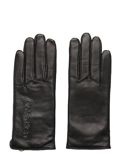 Deboss Logo Leather Handschuhe Schwarz CALVIN KLEIN