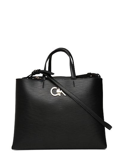 Re-Lock Tote Md Ep Bags Top Handle Bags Schwarz CALVIN KLEIN