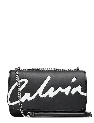 Ckj Sculpted Flap Ew Xbody Bags Small Shoulder Bags - Crossbody Bags Schwarz CALVIN KLEIN